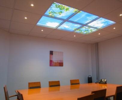 Plafond lumineux Cumulux pour salle de réunion aveugle