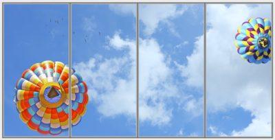 dalle pour plafond cumulux Balloon Birds Wide 4