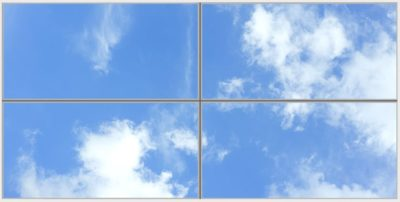 faux plafond lumineux cumulux Capri Wide 4 Horizontal