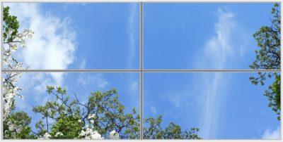 plafond lumineux led cumulux Fernet Wide 4 Horizontal
