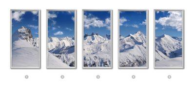 fenêtre virtuelle LED 60X120 CM - paysage montagne