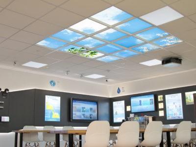 plafond lumineux cumulux - Installation CANON en Bretagne