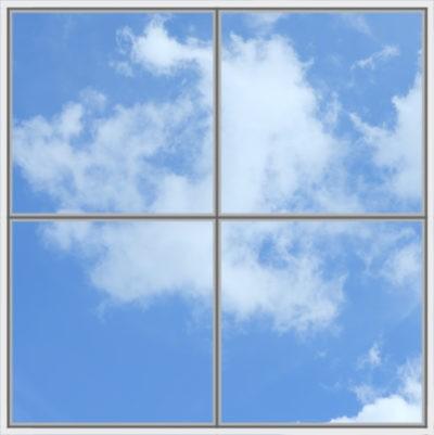 image pour plafond cumulux led avec ciel et nuages