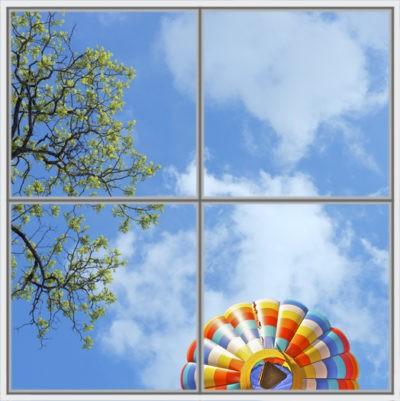 image de ciel pour plafond cumulux led arbre et monglofière