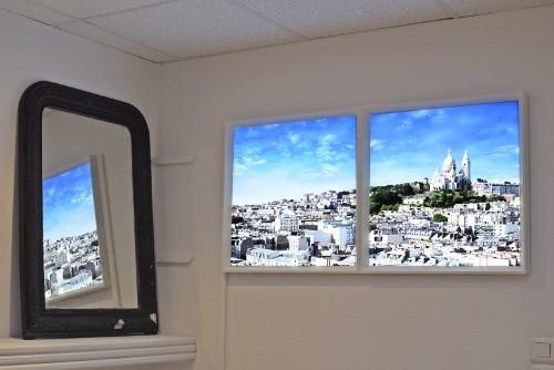 fenêtres / carreaux lumineux LED cumulux - installation chez Jules
