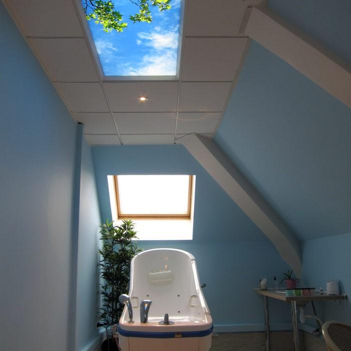 faux plafond lumineux cumulux