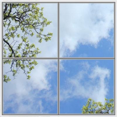 plafond de ciel pour cumulux led avec feuilles d'arbre