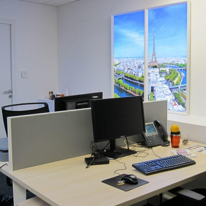 Plafond Lumineux Et Fenêtre Virtuelles Renault Paris Open Space