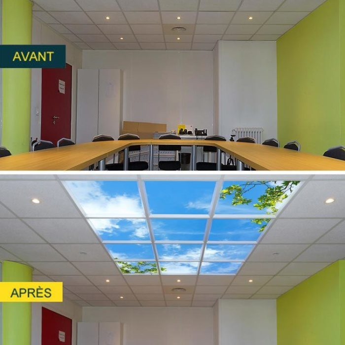 plafond lumineux cumulux