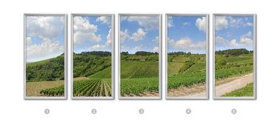 fausse fenêtre led decors vignoble cumulux