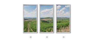fausse fenêtre lumineuse trompe l'oeil éclairage led vignoble en Bourgogne cumulux