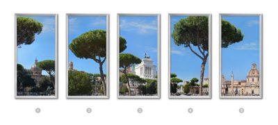 fausses fenêtres cumulux Pins parasols romains
