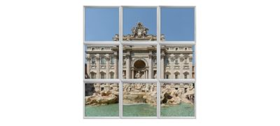 carreaux cumulux Rome fontaine de Trévi