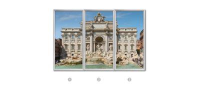 fenêtre trompe l'oeil cumulux Rome - Fontaine de TreviRome - Fontaine de Trevi