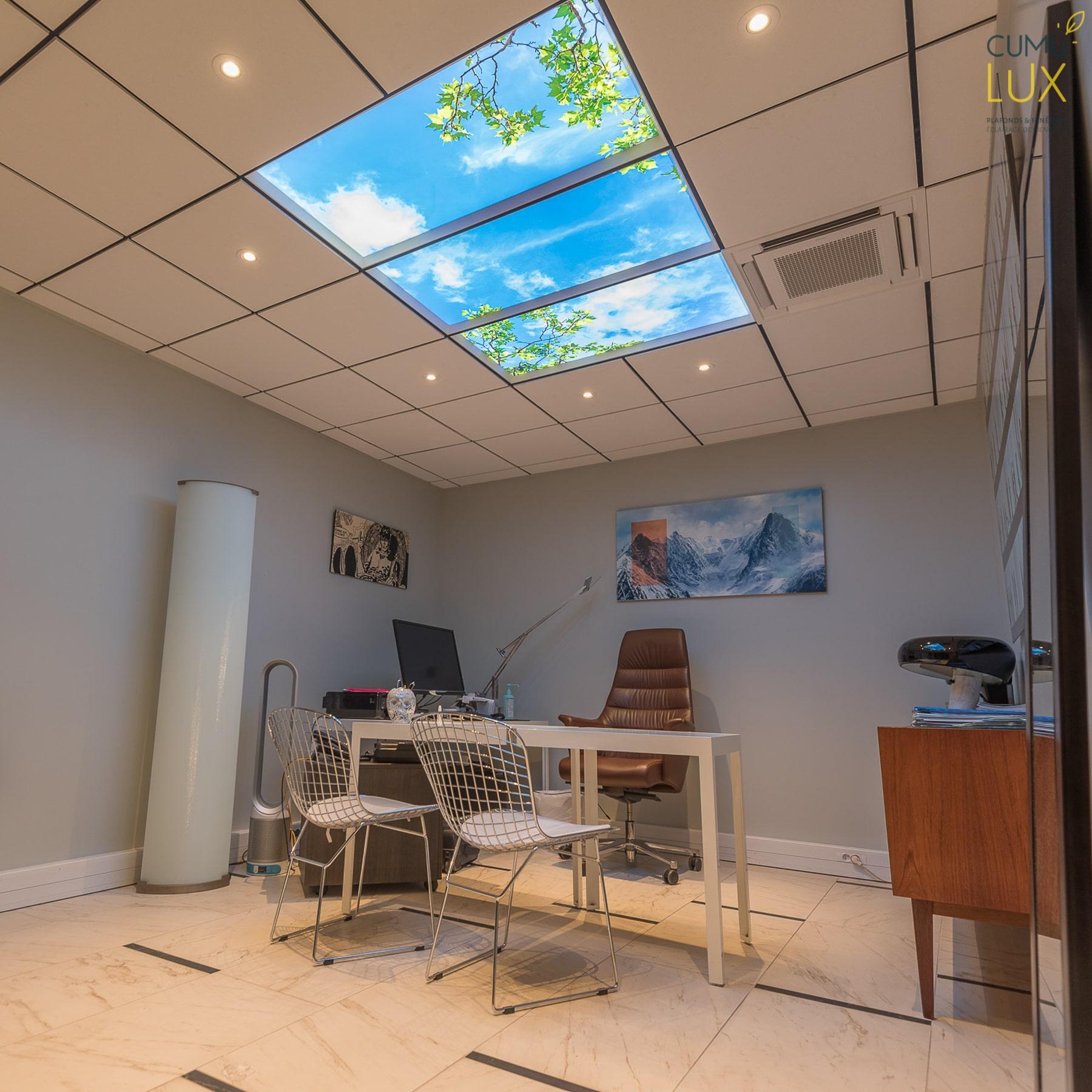 dalles de plafonds en 60x120 cm dans salle de soin parsienne