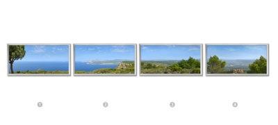 fenêtre cumulux 60x120 cm - paysage - Entre Cassis et La Ciotat