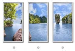 fenêtre cumulux paysage thailand