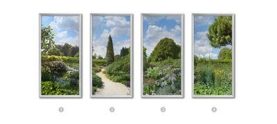 image fenêtre cumulux - chemin dans le jardin