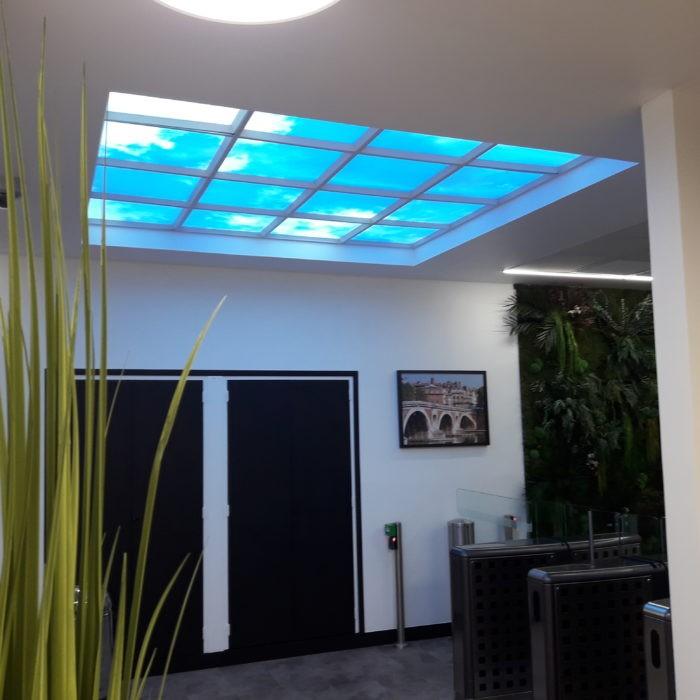 Plafond lumineux 60x60 cm puits de lumière articificielle