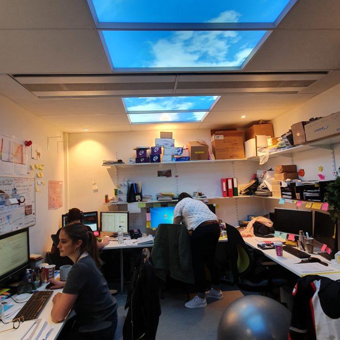 bureaux sans lumière du jour sans fenêtre virtuelle
