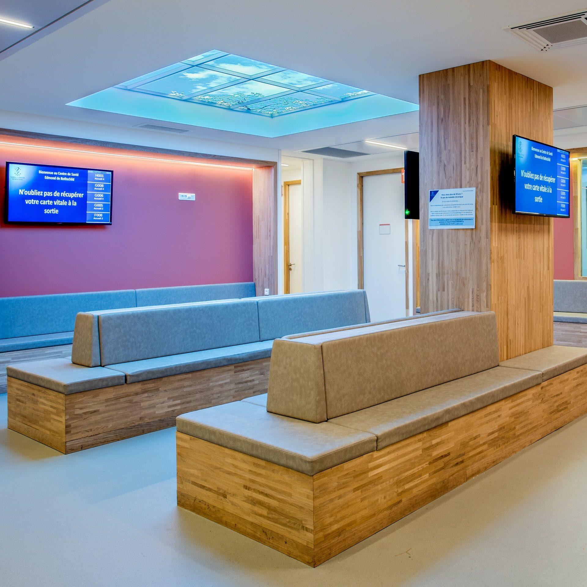 Plafond dans la salle d'attente - Fondation Rothschild