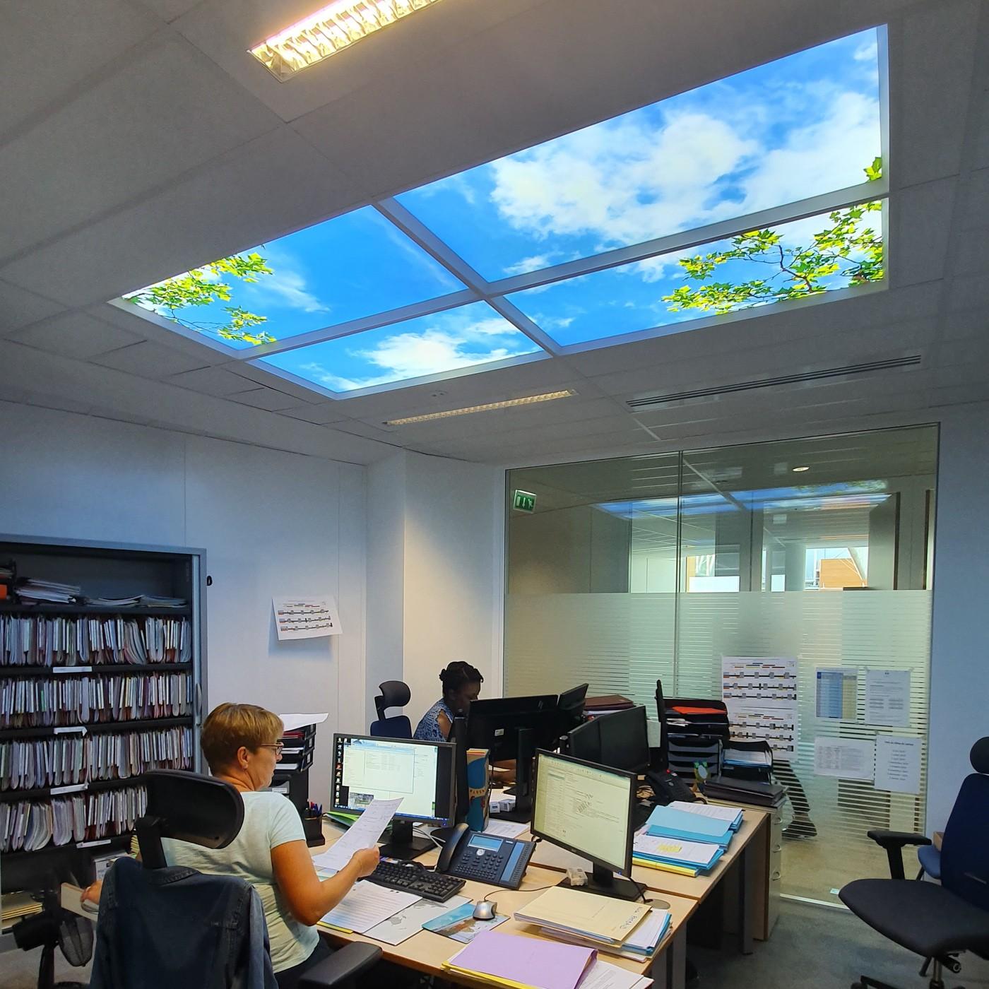 plafond lumineux Cumulux bureau sans fenêtre ministère de la justice