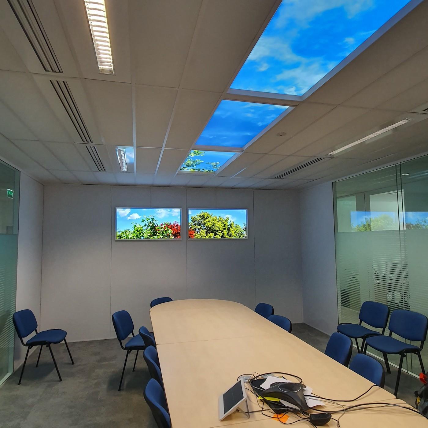 Fenêtre lumineuse pour salle de réunion