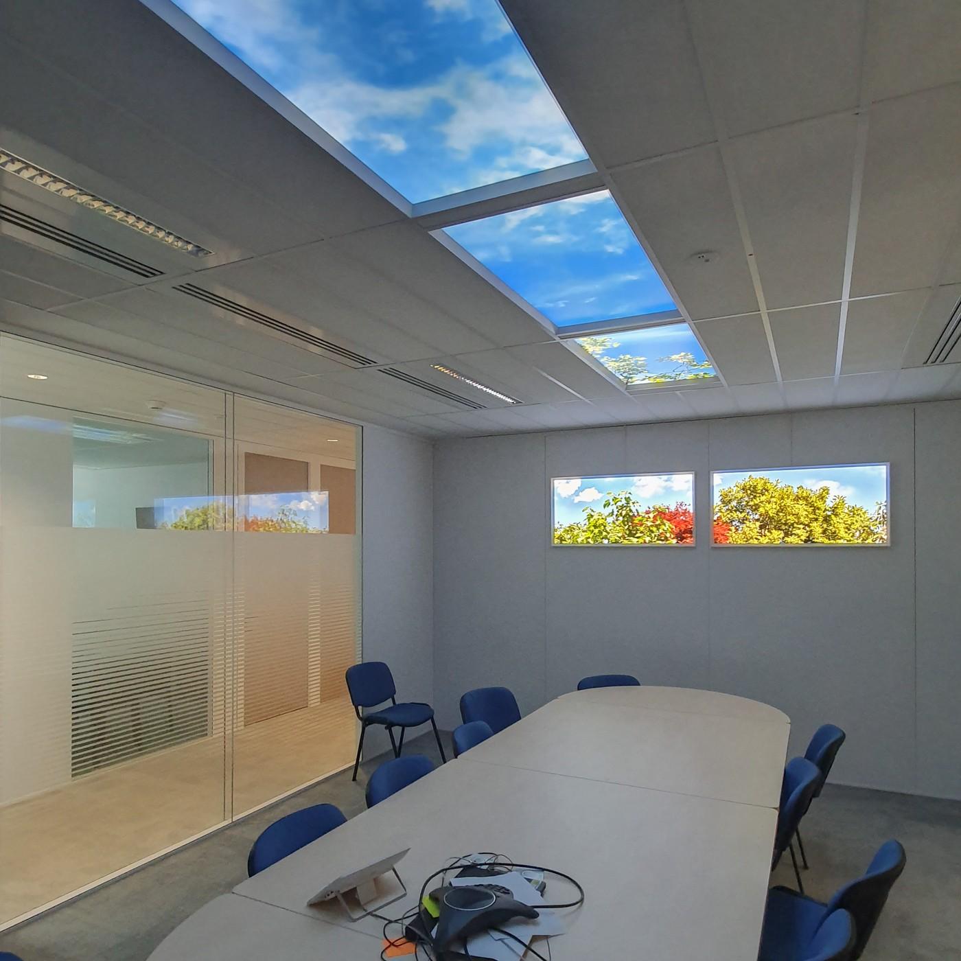faux plafond lumineux pour salle de réunion