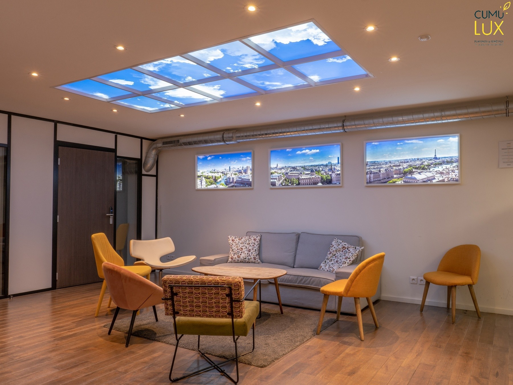 showroom Cumulux - Fausses fenêtres LED