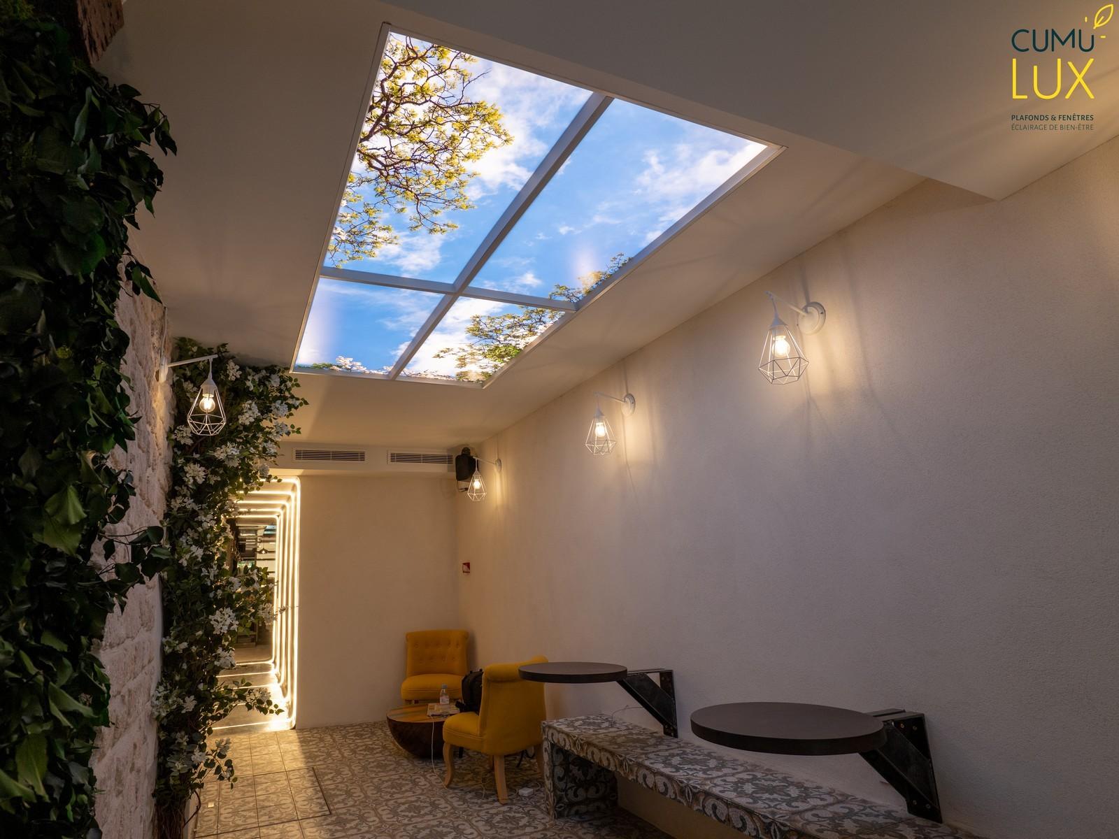 Plafond ciel Cumulux qui respecte le rhytme circadien