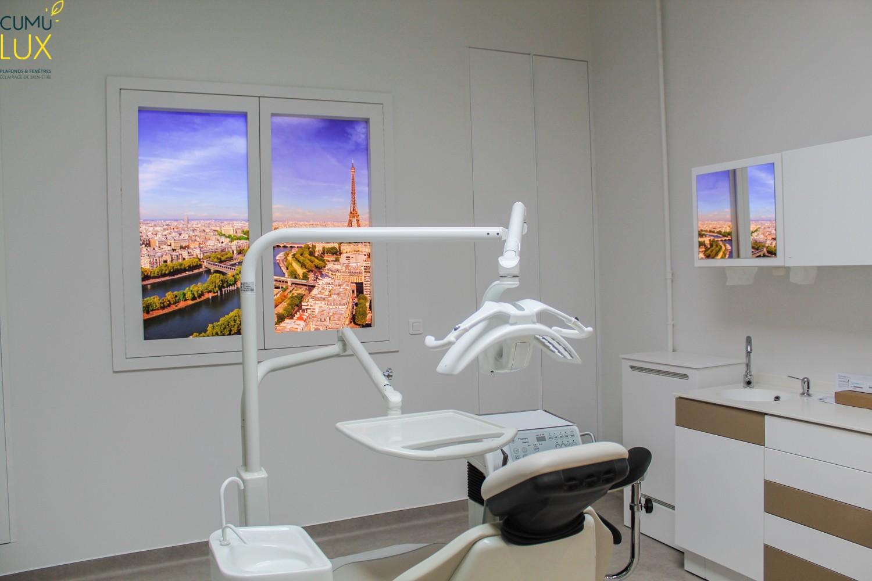 Fenêtres LED ikea, Evolution, Cumulux pour illuminer une salle de consultation sombre.