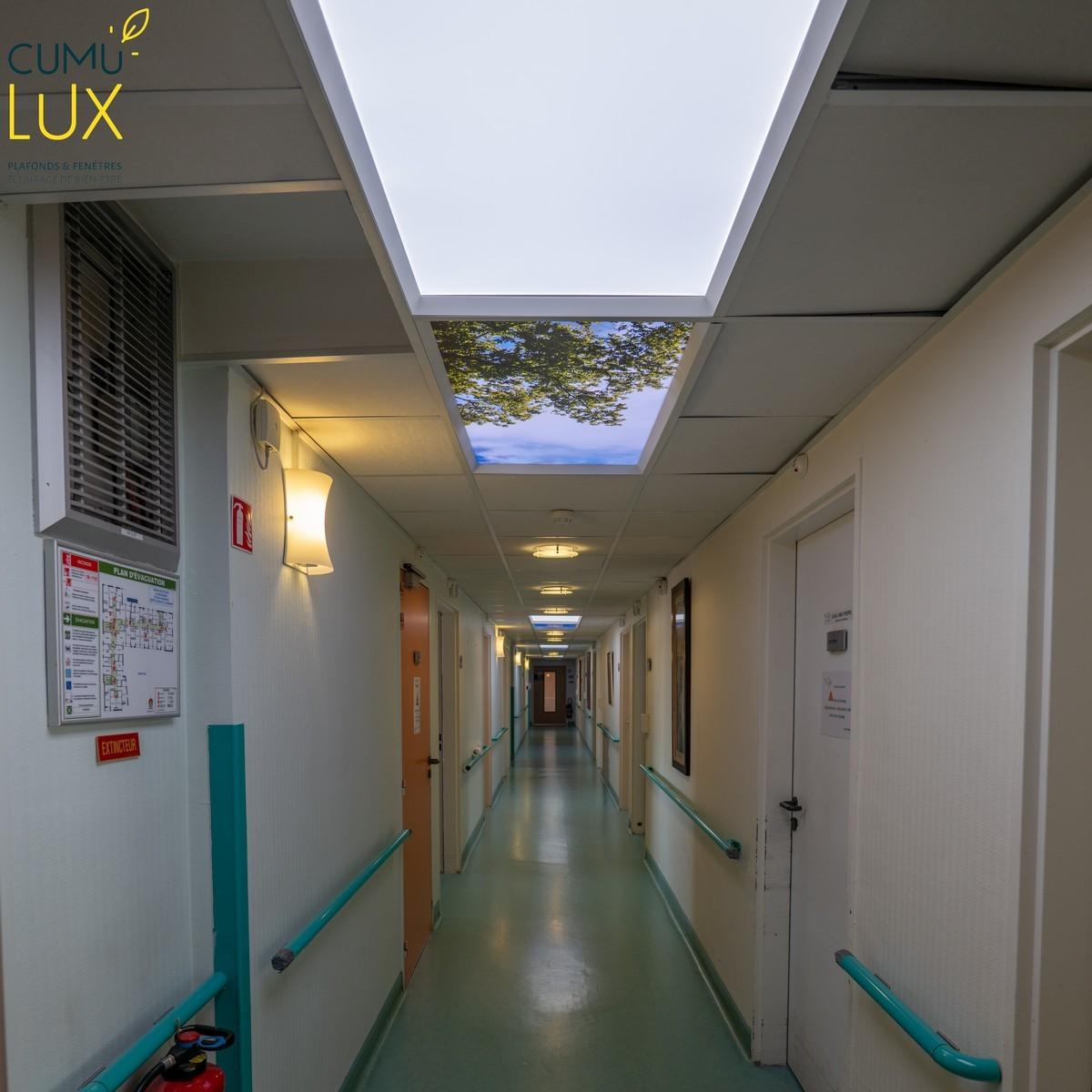 Pavés LED Cumulux trompe l'oeil avec une illusion de vue panoramique sur le ciel.