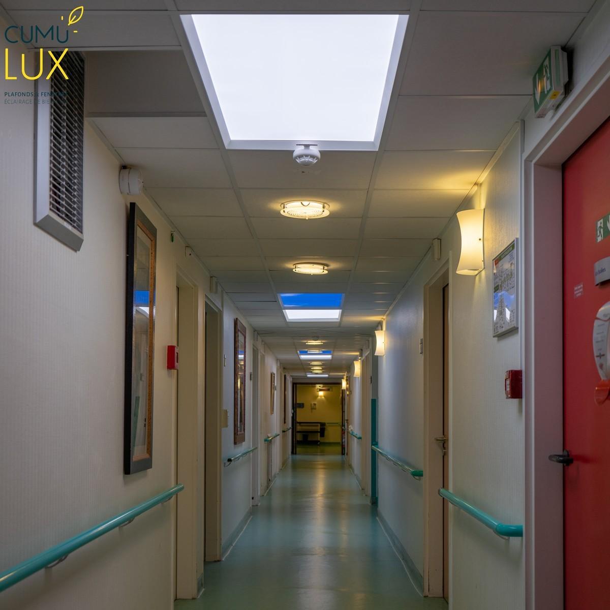 Pose de pavé LED Cumulux, pour offrir une vue sur le ciel.